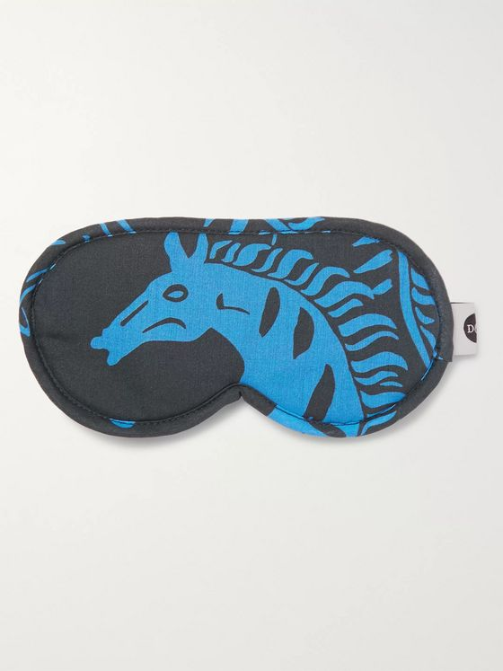 Desmond & Dempsey Printed Cotton Eye Mask