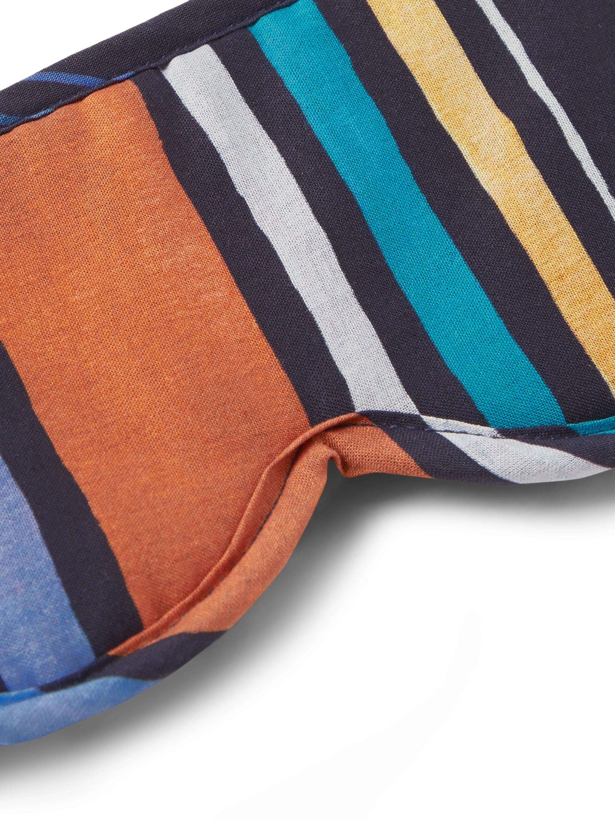 Desmond & Dempsey Striped Cotton Eye Mask