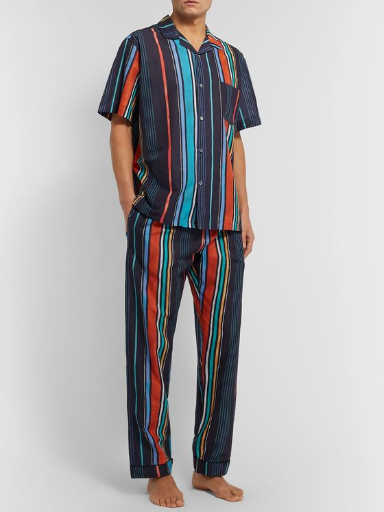 Desmond & Dempsey Striped Cotton Pyjama Trousers