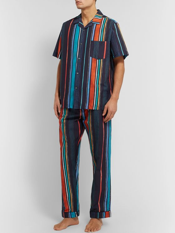 Desmond & Dempsey Striped Cotton Pyjama Shirt