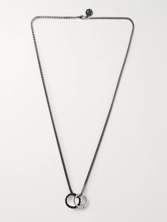 Alexander McQueen Burnished Silver-Tone Necklace