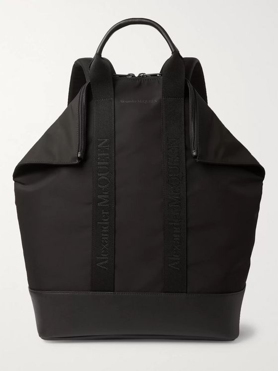 Alexander McQueen De Manta Leather-Trimmed Nylon Convertible Tote Bag