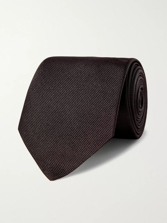 Alexander McQueen 8cm Embroidered Silk-Twill Tie