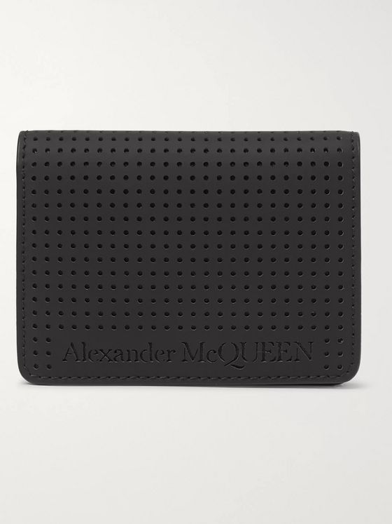 Alexander McQueen Perforated Leather Cardholder