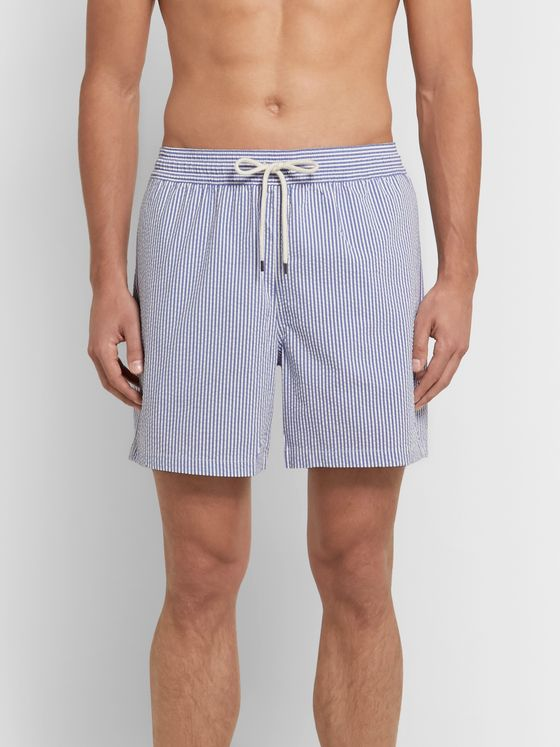Polo Ralph Lauren Traveler Mid-Length Striped Seersucker Swim Shorts