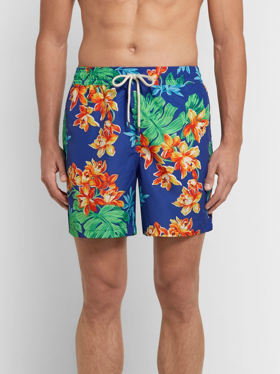 Polo Ralph Lauren Traveler Mid-Length Printed Swim Shorts