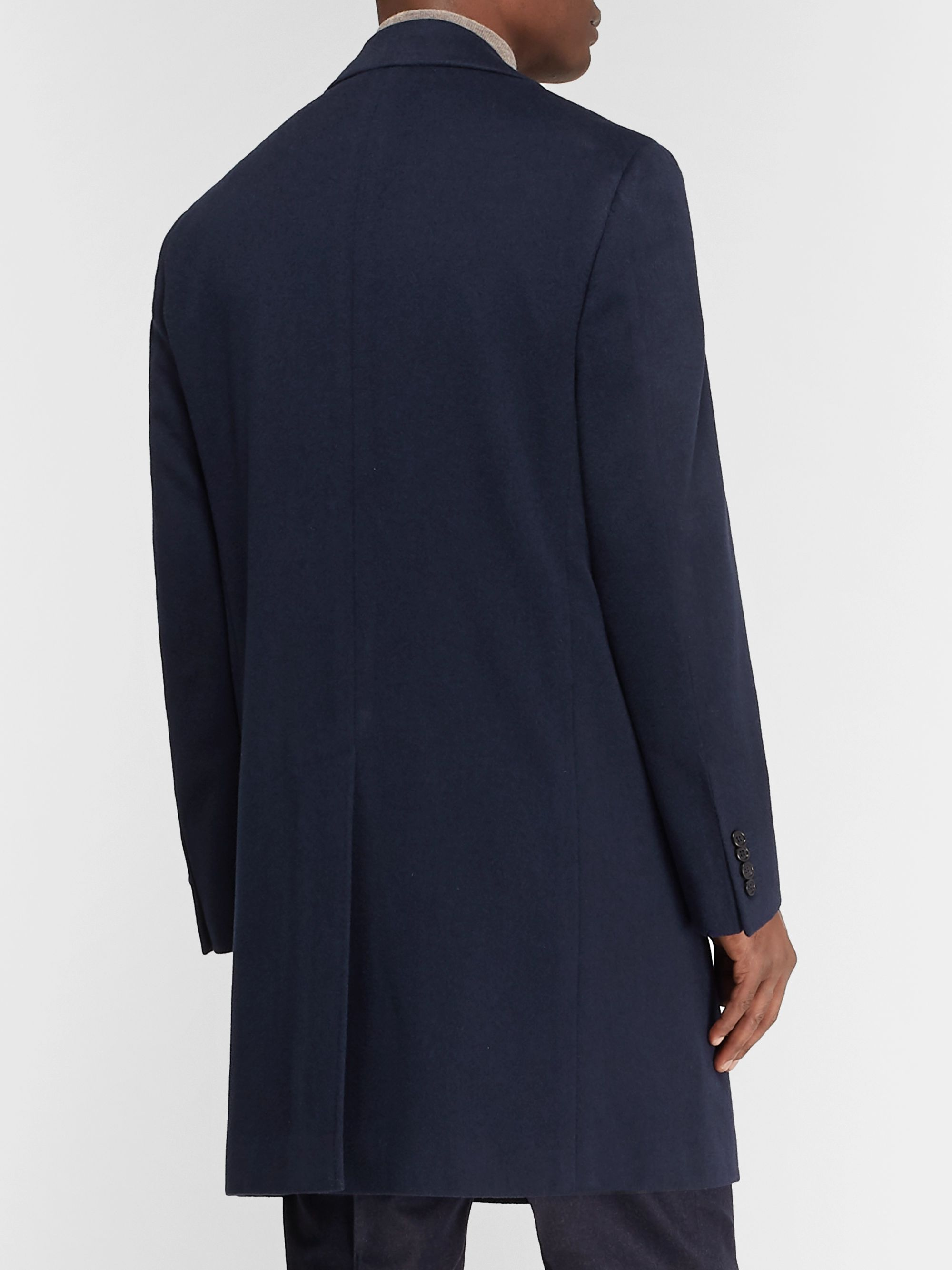Canali Wool and Cashmere-Blend Overcoat