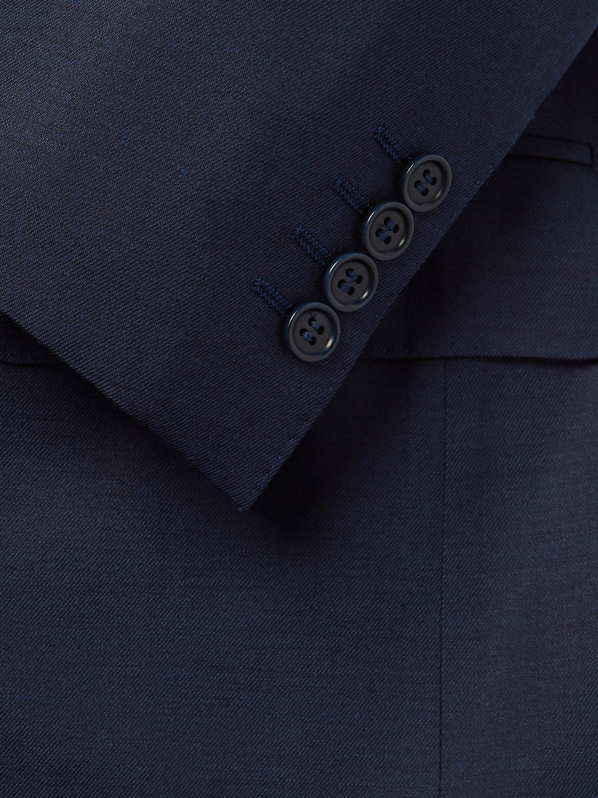 Canali Navy Slim-Fit Wool-Twill Suit Jacket