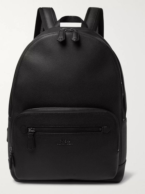 Polo Ralph Lauren Pebble-Grain Leather Backpack