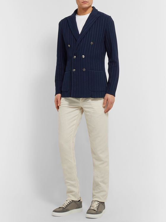 Lardini Slim-Fit Cotton-Jacquard Blazer