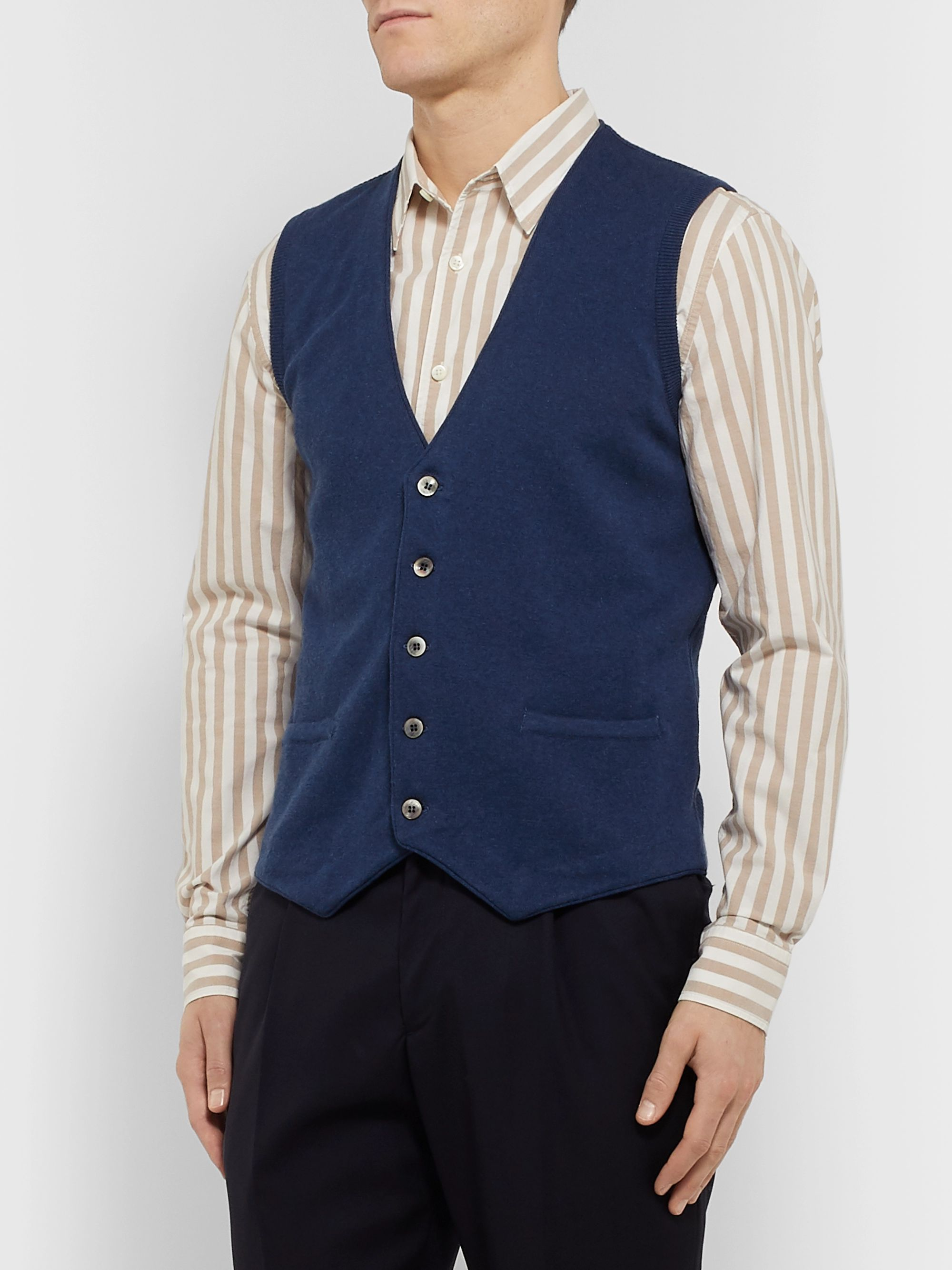 Lardini Slim-Fit Cotton Gilet