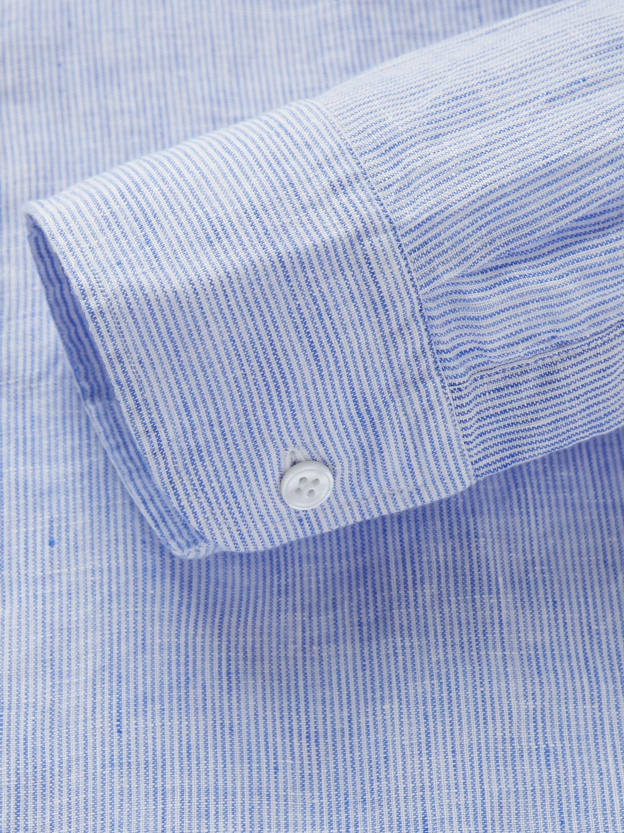 Lardini Slim-Fit Striped Linen Shirt