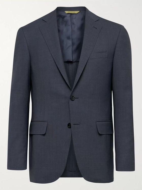 Canali Slim-Fit Kei Wool Suit Jacket