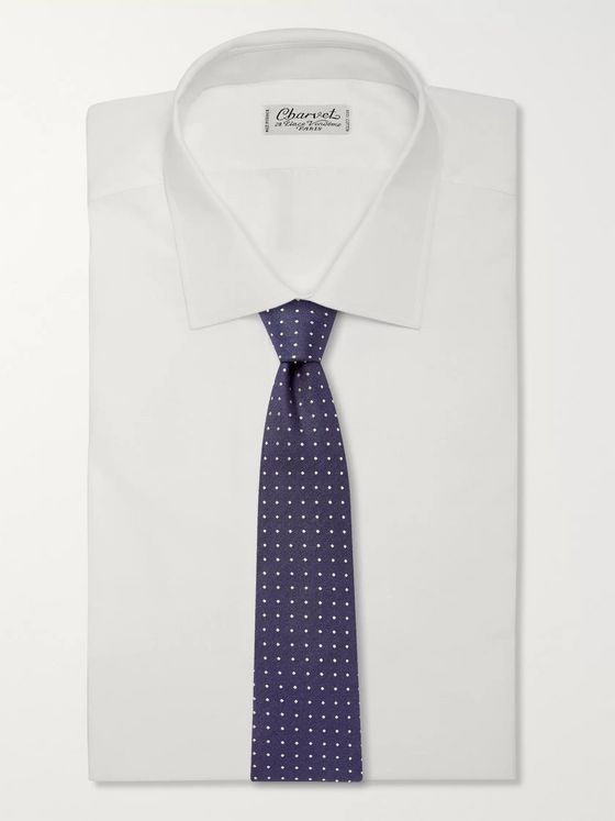 Canali 8cm Embroidered Silk-Jacquard Tie