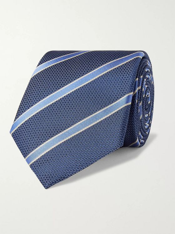 Canali 8cm Striped Silk Tie