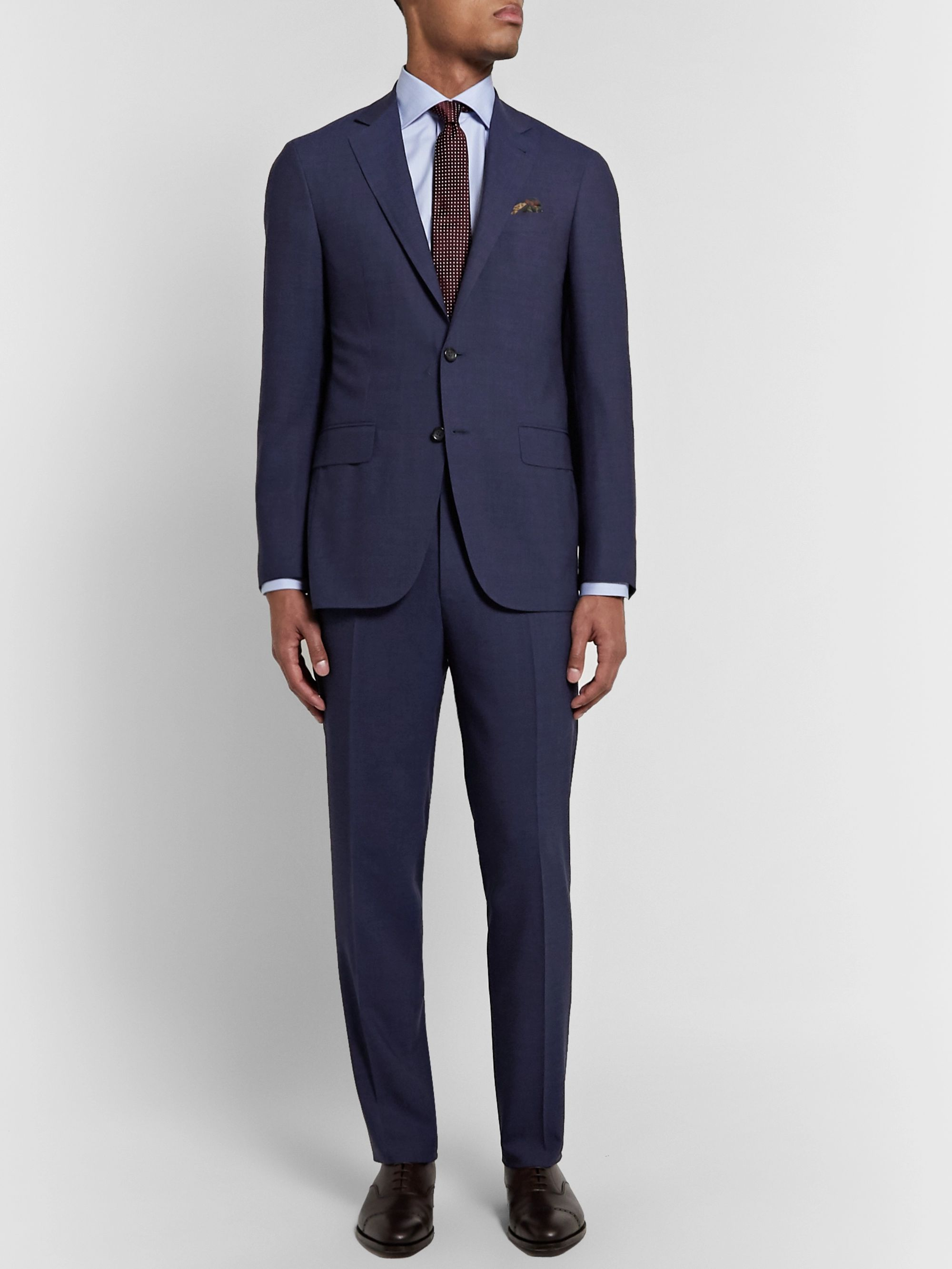 Canali Navy Kei Impeccabile 2.0 Suit Jacket