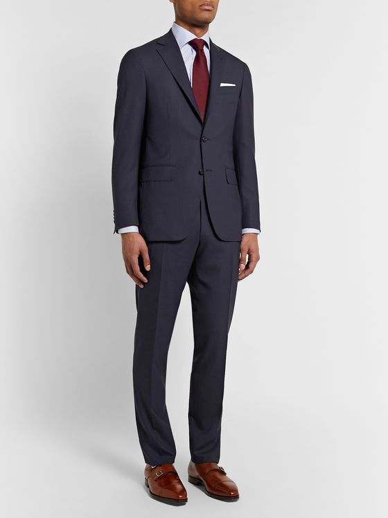 Canali Kei Slim-Fit Wool Suit Trousers
