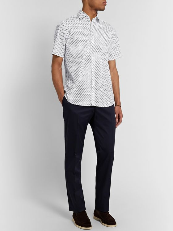 Canali Printed Cotton-Poplin Shirt