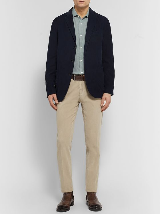 Boglioli Slim-Fit Cutaway-Collar Linen Shirt