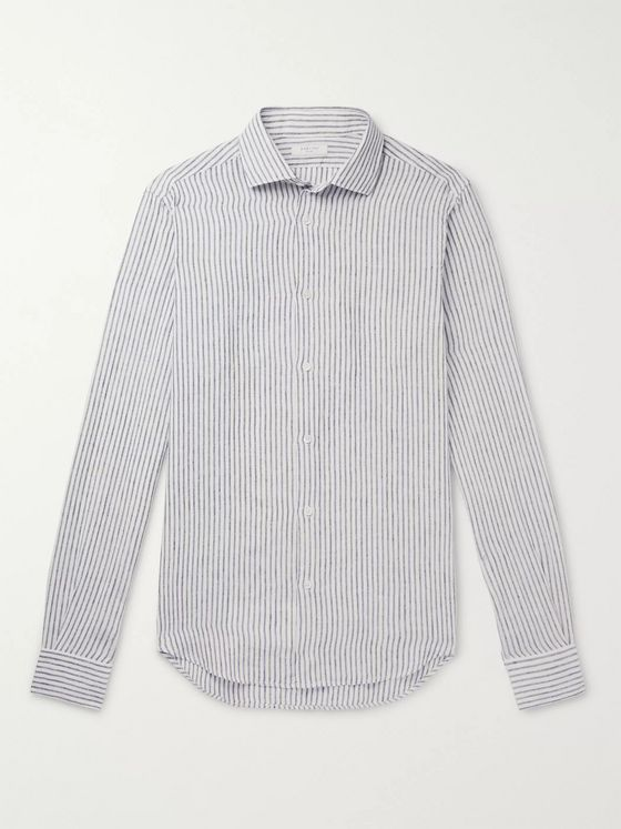 Boglioli Slim-Fit Striped Linen Shirt