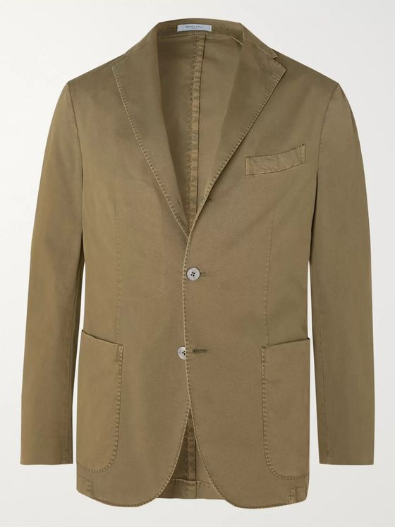 Boglioli K-Jacket Slim-Fit Unstructured Stretch-Cotton Twill Suit Jacket