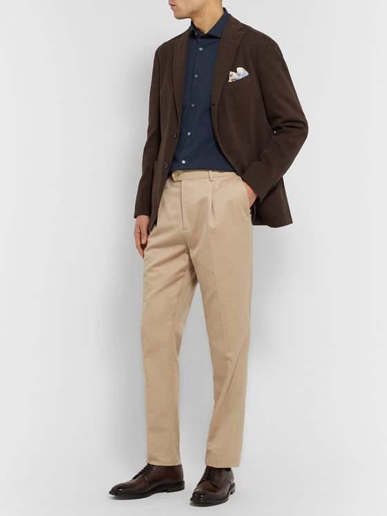 Boglioli Slim-Fit Cotton-Seersucker Shirt