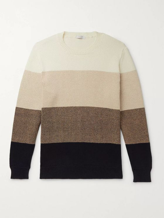 Boglioli Striped Cotton Sweater