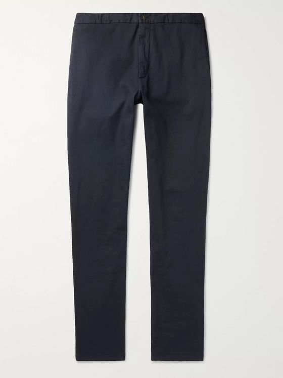 Boglioli Navy Slim-Fit Stretch-Cotton Chinos