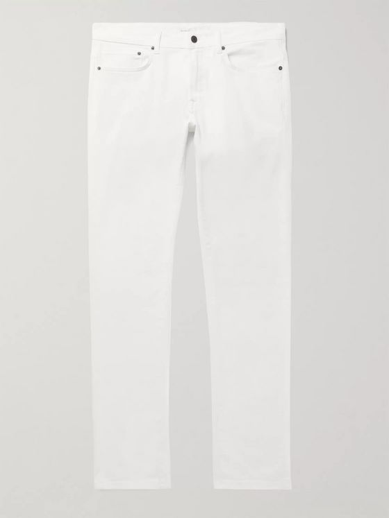 Boglioli Navy Slim-Fit Stretch-Cotton Twill Trousers