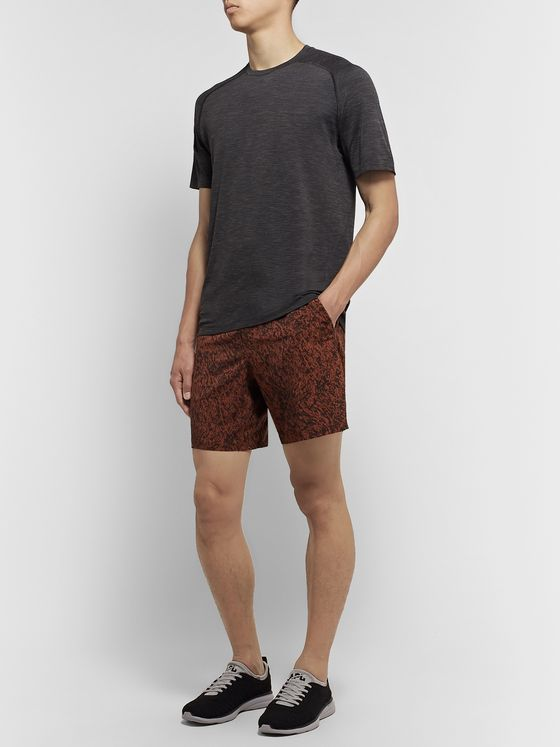 Lululemon Pace Breaker Slim-Fit Mesh-Trimmed Printed Swift Ultra Shorts