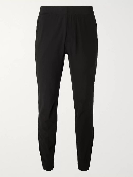 Lululemon In Mind Slim-Fit Tapered Mesh-Panelled Stretch-Jersey Yoga Sweatpants