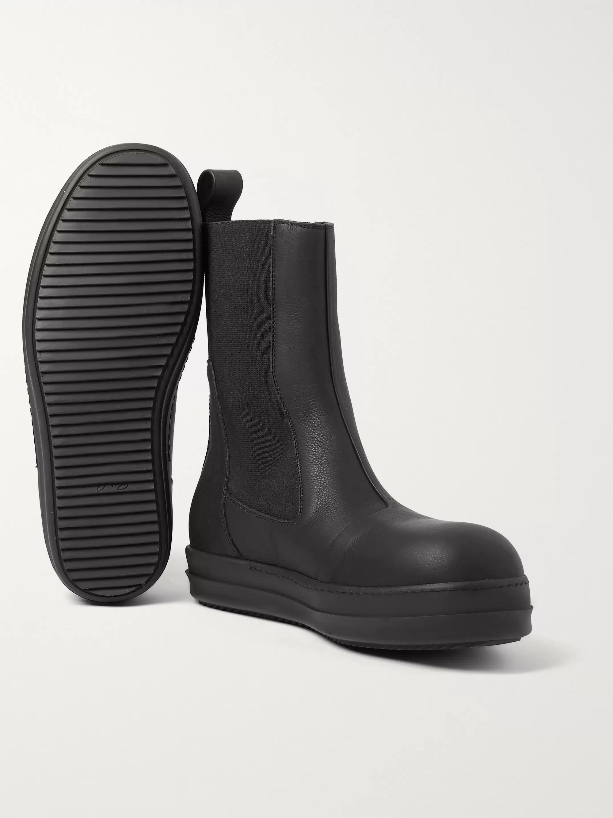 Rick Owens Bozo Leather Chelsea Boots