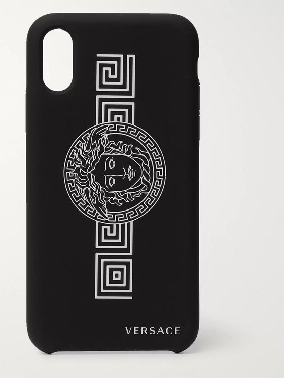 Versace Logo-Print iPhone X and XS Case