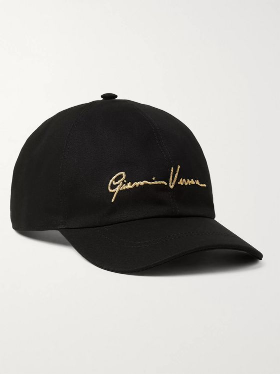 Versace Logo-Embroidered Cotton-Twill Baseball Cap