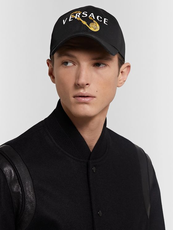 Versace Logo-Embroidered Twill Baseball Cap