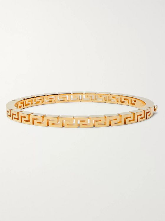 Versace Meander Gold-Tone Bangle