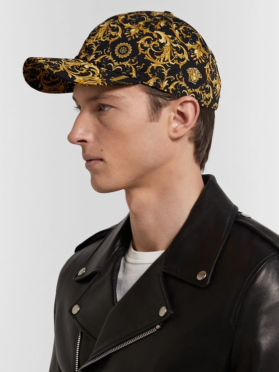 Versace Printed Cotton-Twill Baseball Cap