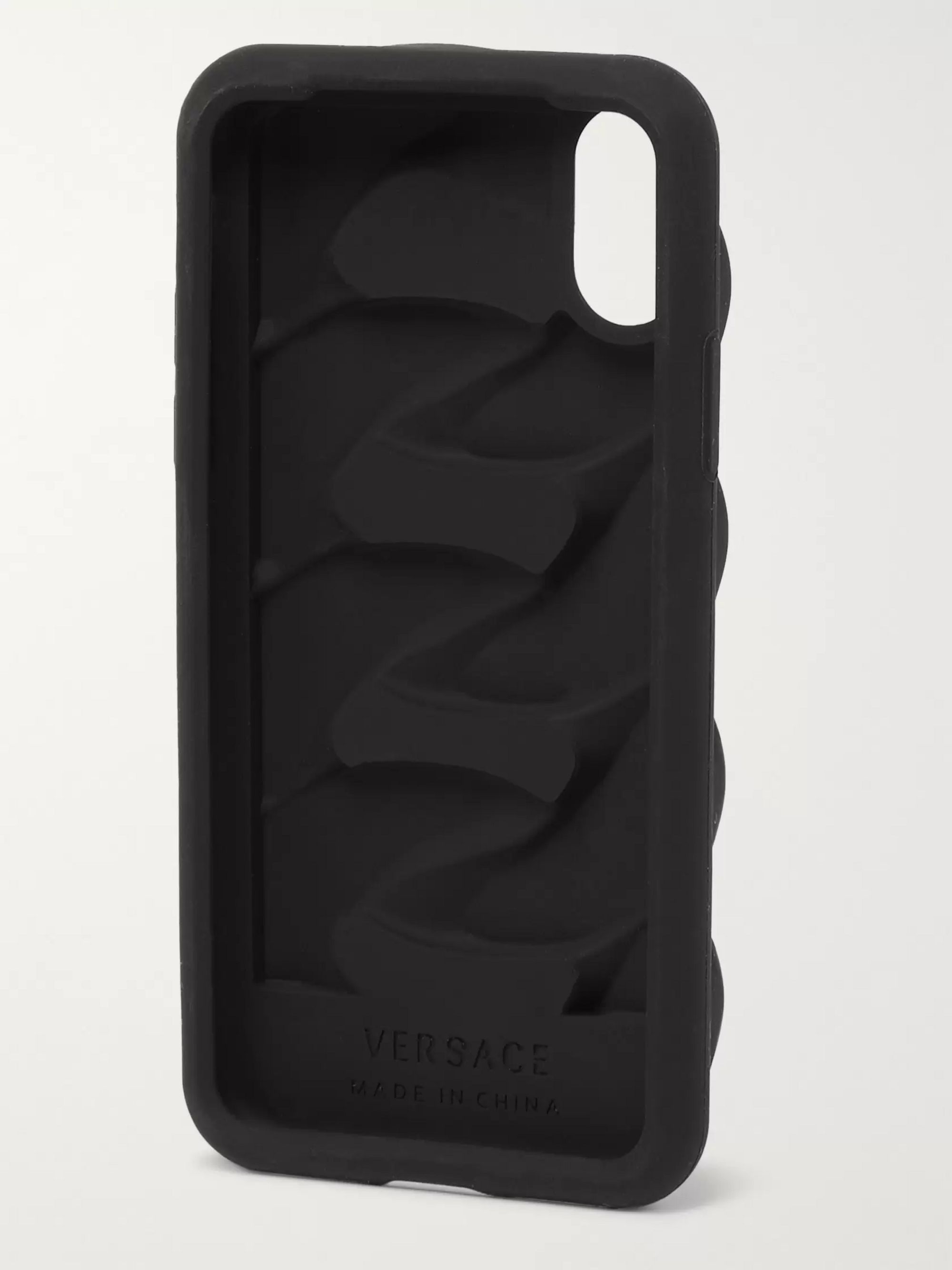 Versace Chain Reaction Silicone iPhone X Case