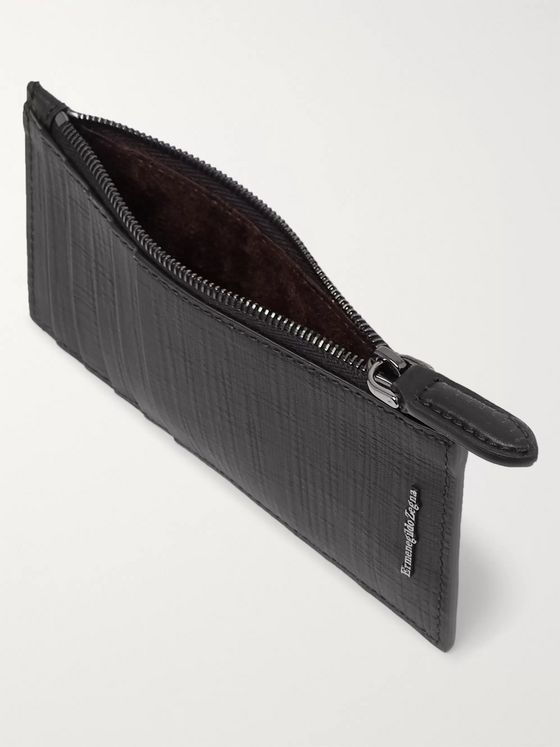 Ermenegildo Zegna Stuoia Textured-Leather Cardholder