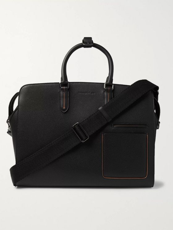 Ermenegildo Zegna Blazer Full-Grain Leather Holdall