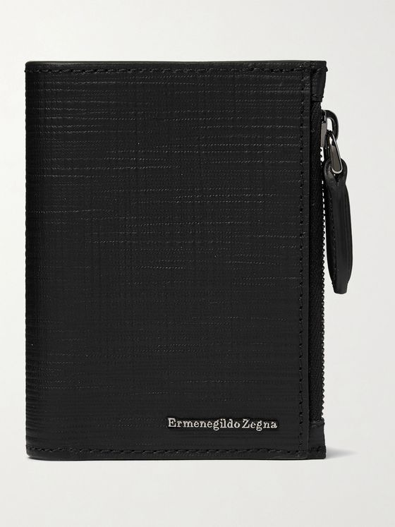 Ermenegildo Zegna Textured-Leather Trifold Wallet