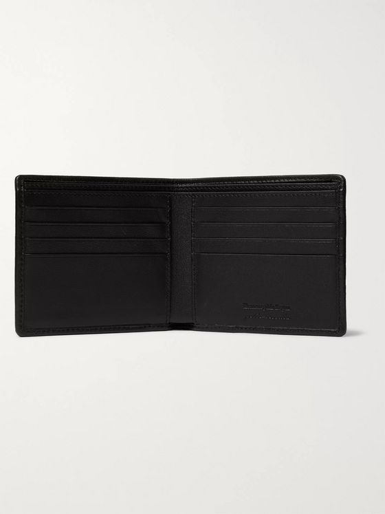 Ermenegildo Zegna Pelle Tessuta Leather Billfold Wallet