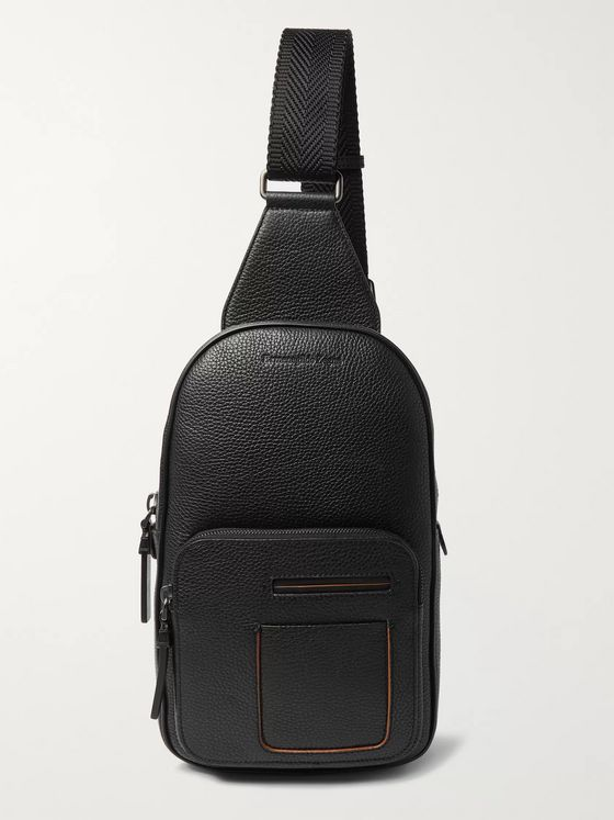 Ermenegildo Zegna Full-Grain Leather Backpack