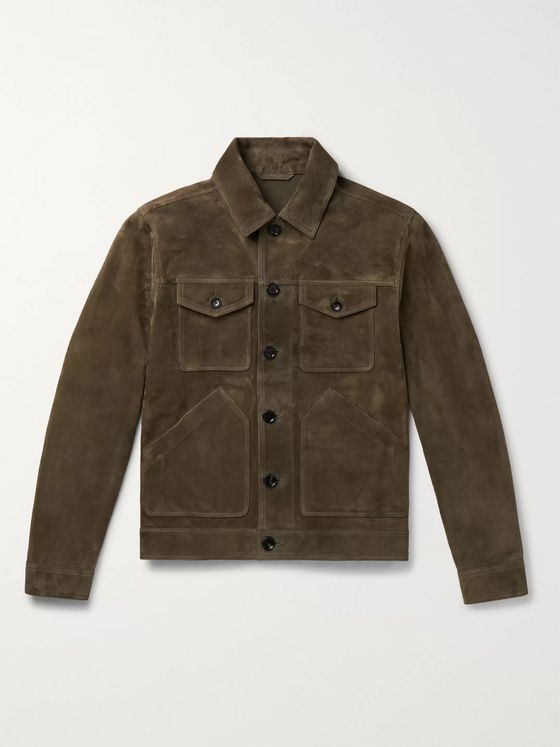 MR P. Suede Trucker Jacket