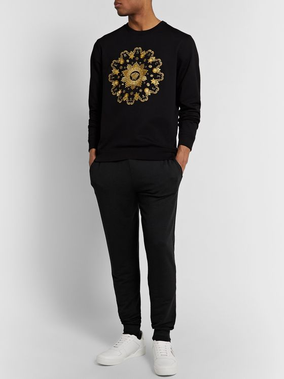 Versace Slim-Fit Tapered Stretch-Modal Tapered Sweatpants