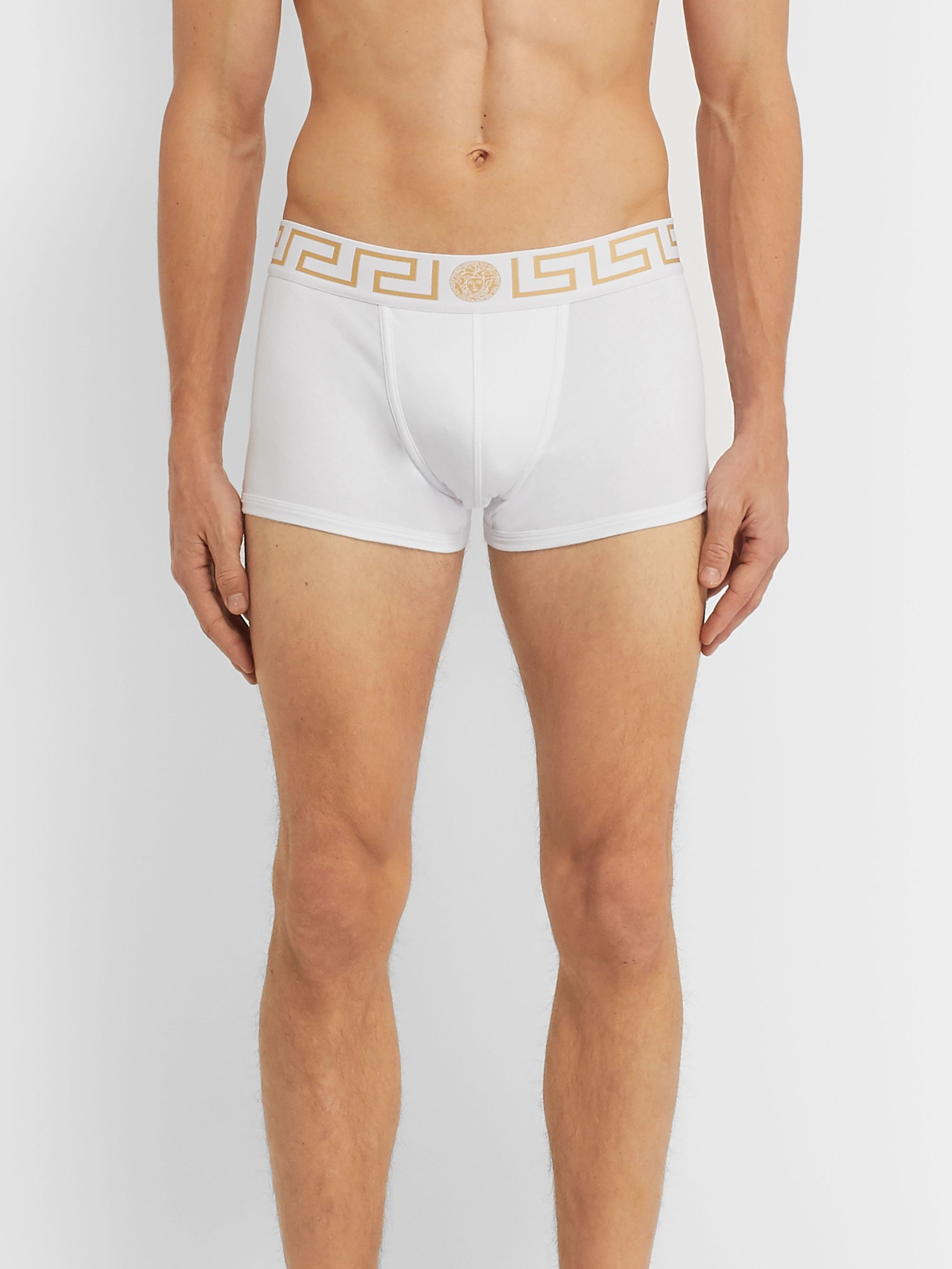 Versace Two-Pack Stretch-Cotton Boxer Briefs