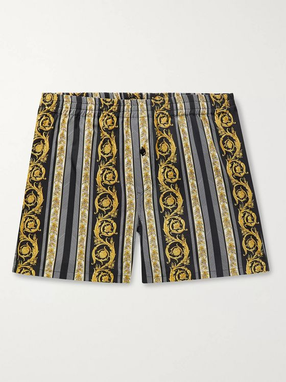Versace Printed Cotton Boxer Shorts