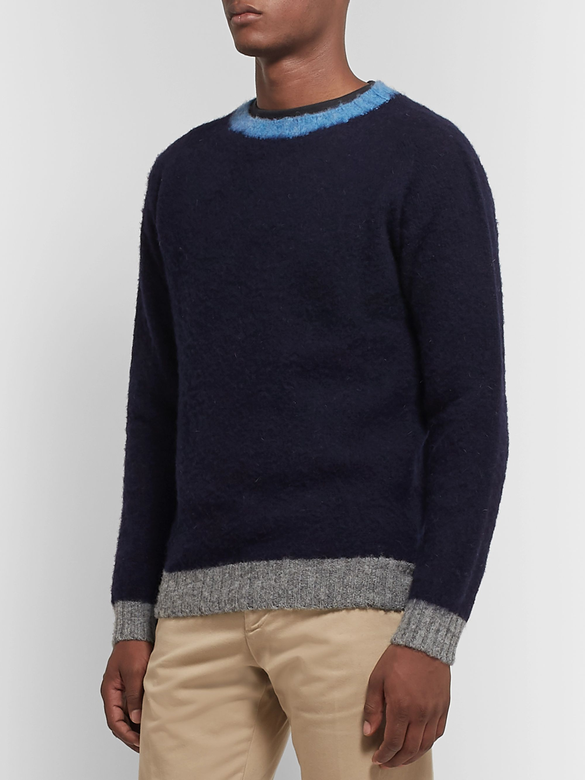 Howlin' Slim-Fit Contrast-Tipped Wool Sweater