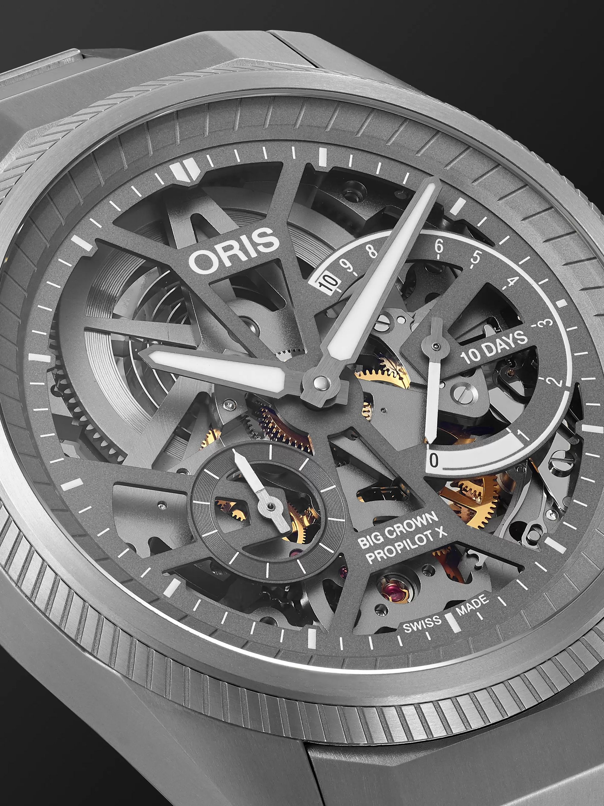 Oris Big Crown ProPilot X Hand-Wound Skeleton 44mm Titanium Watch