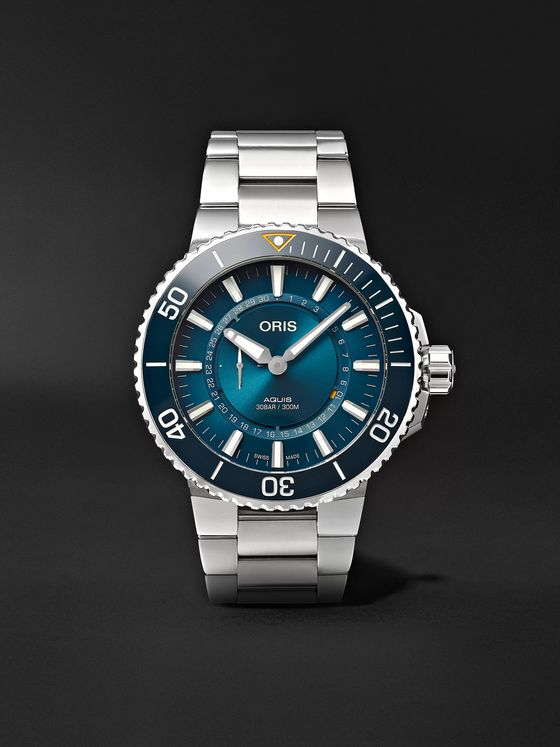 Oris Great Barrier Reef III Limited Edition Automatic 43.5mm Stainless Steel Watch, Ref. No. 01 743 7734 4185-Set